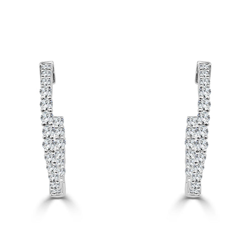 Half Carat Diamond Inside Out Hoop Earrings