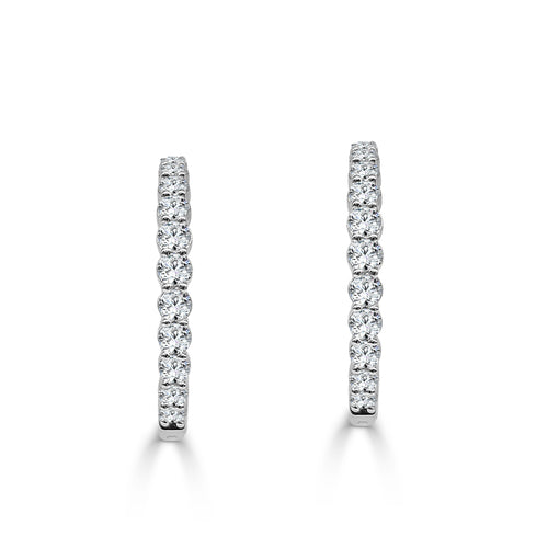 Four Carat Diamond Inside-out Hoop Earrings