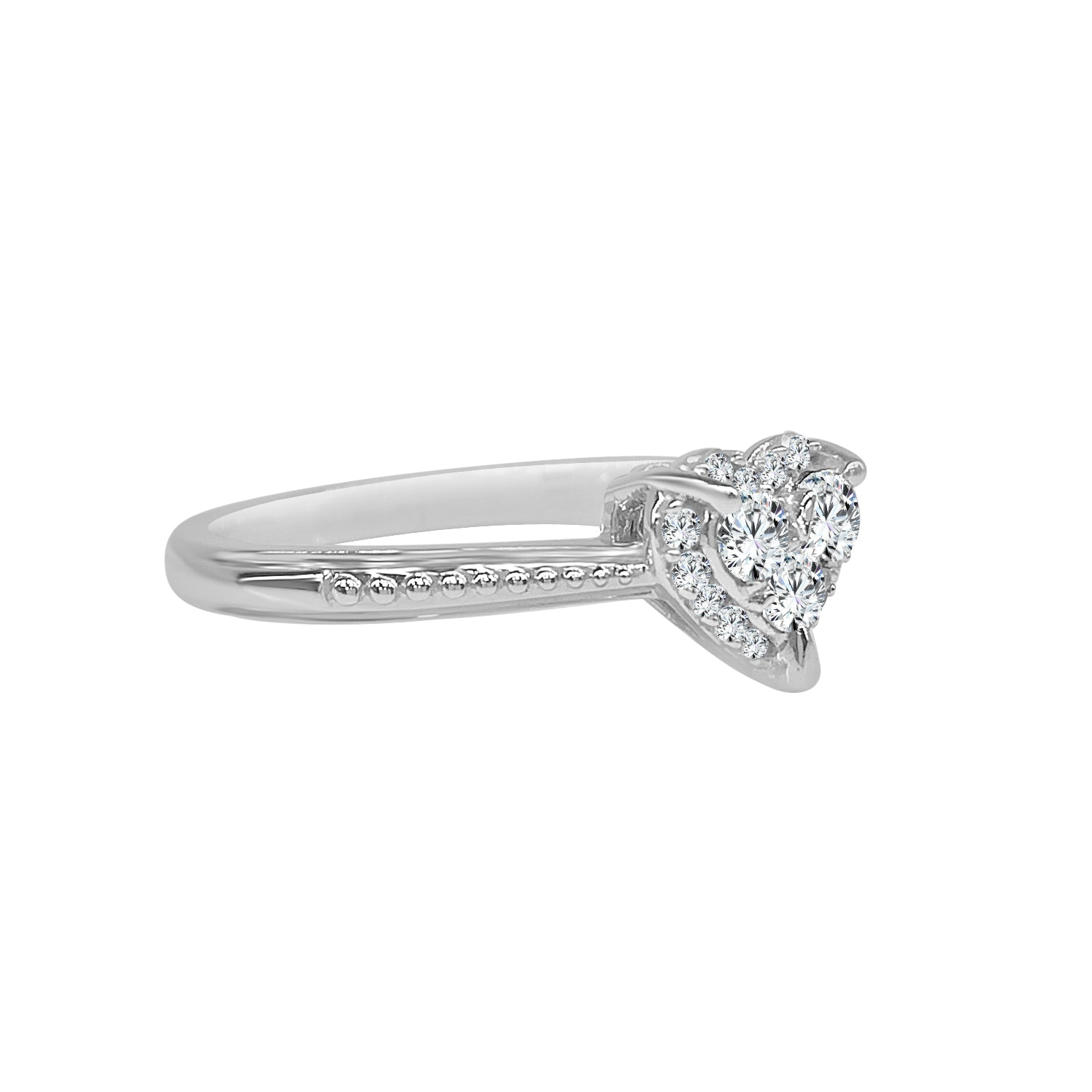 Heart Shaped Diamond Cluster Ring