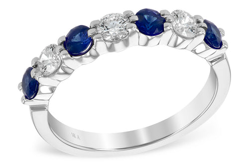 Sapphire And Diamond Alternating One Carat Ring