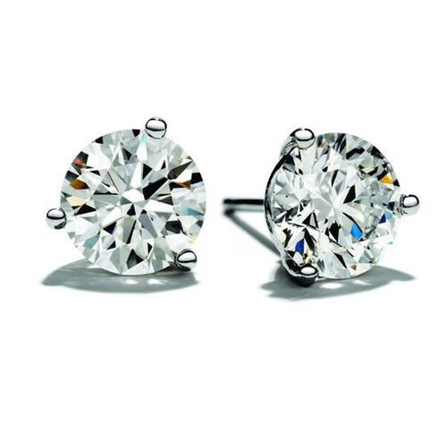 Hearts On Fire 1/4 Carat 3 Prong Stud Earrings