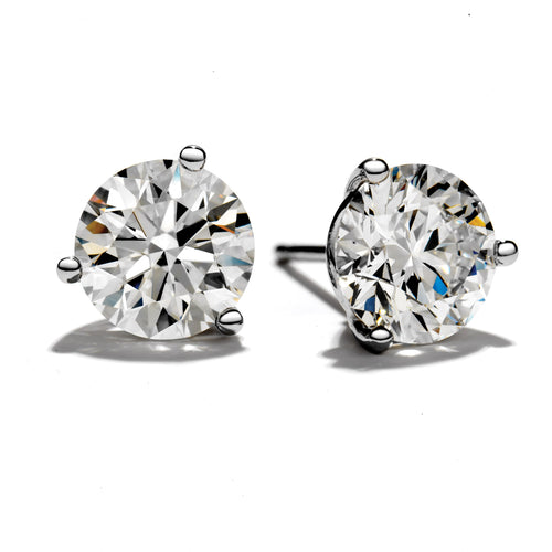 Hearts On Fire Diamond 3prong Stud Earrings