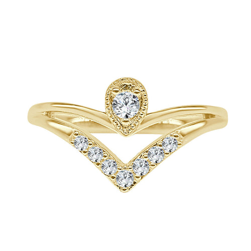 Pointed And Pear Shaped Diamond Ring