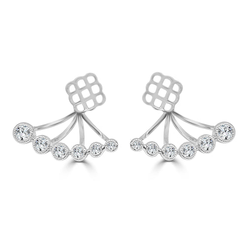 Graduated Diamond Fancy Earring Jackets