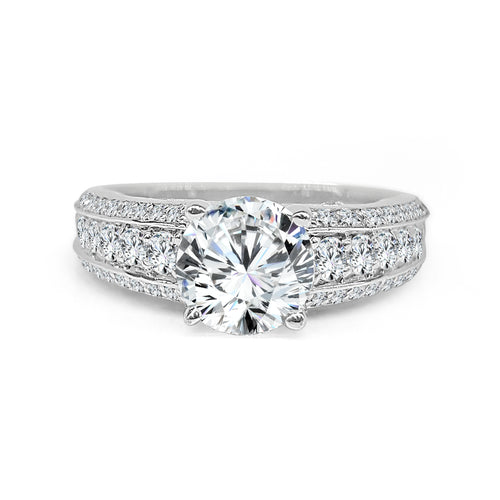 Solitaire With Diamond Wide Fancy Band