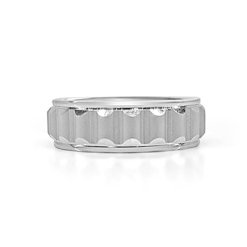 Fancy Ridged Wedding Band