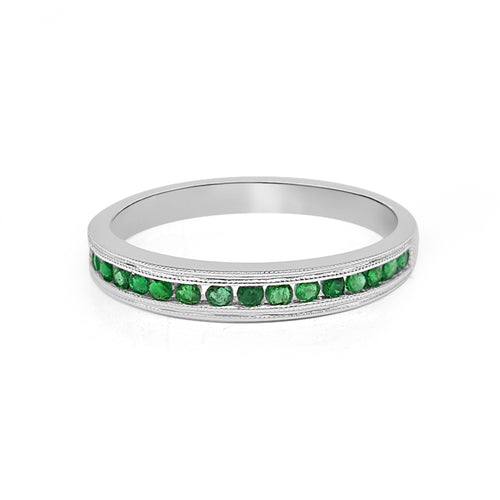 Round Emerald Channel Band