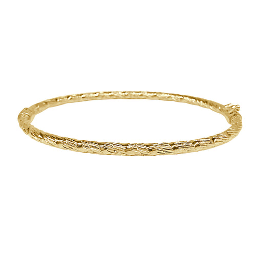 Textured Hinged Bangle