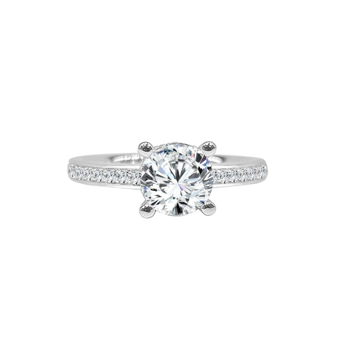 Fana Solitaire With 0.35 Carat Diamond Band