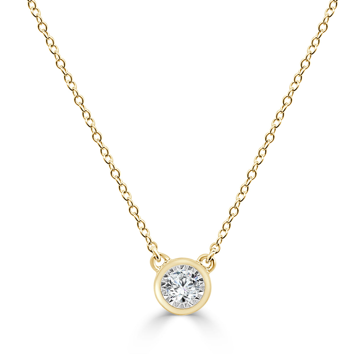 today diamond set free necklace shipping watches bezel overstock pendant jewelry product gold yellow
