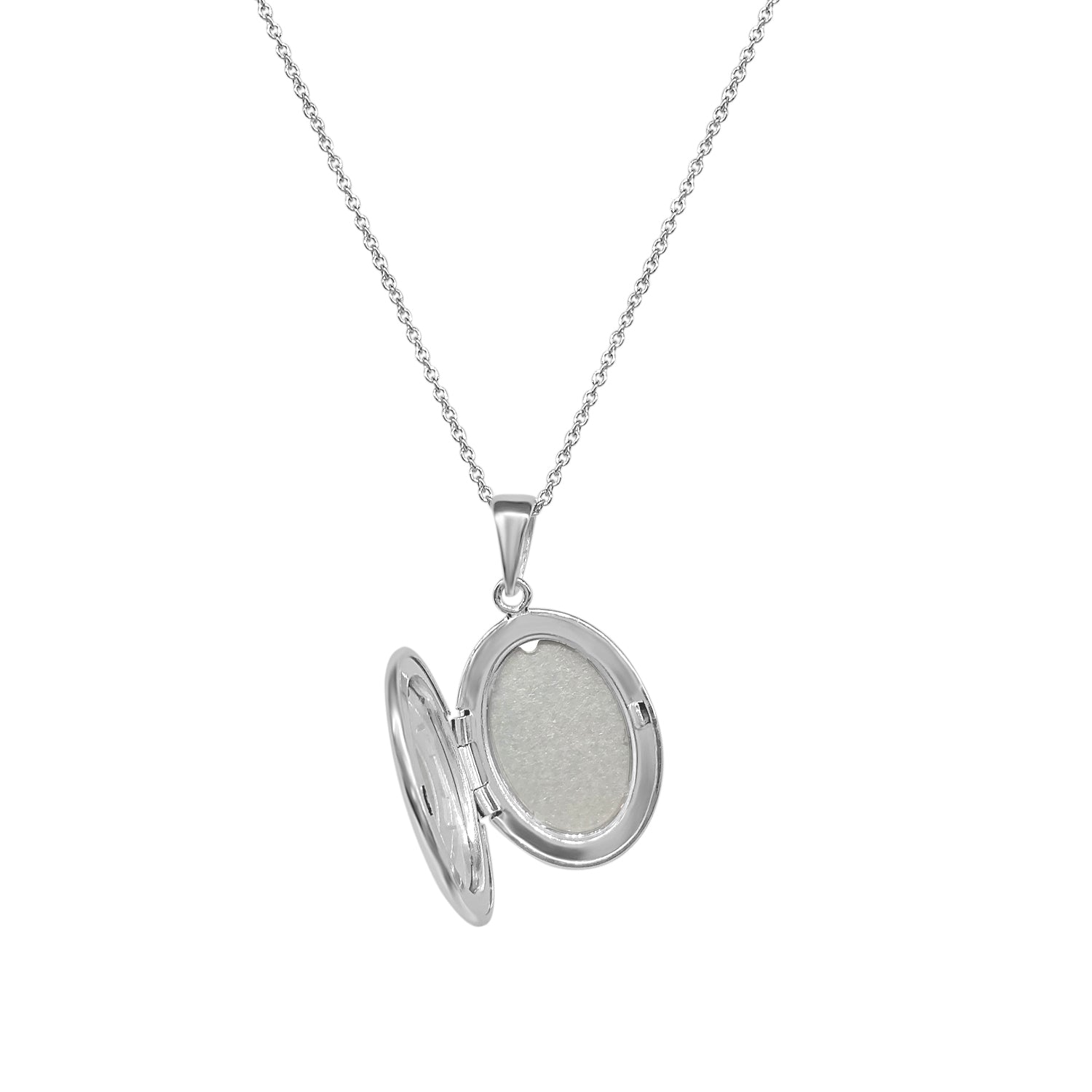 Sterling Silver Hand Engraved Oval Locket