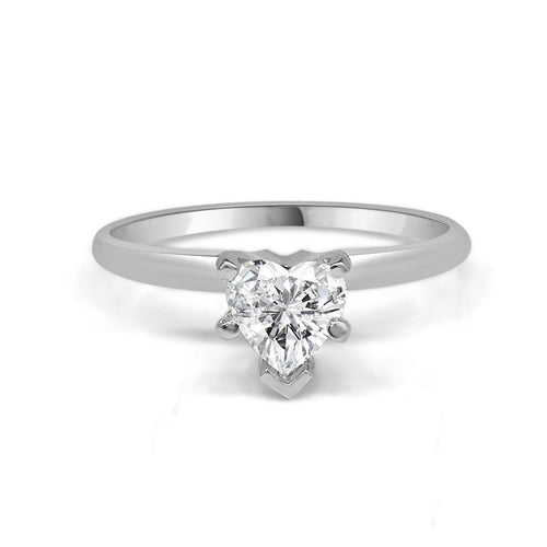 Heart Shaped Diamond Solitaire Ring
