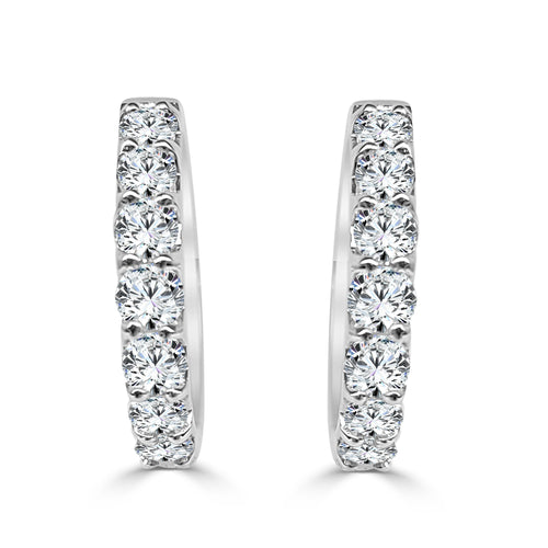 Seven Diamond Hoop Earrings