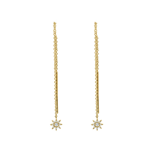 Shy Creations Diamond Star Threader Earrings
