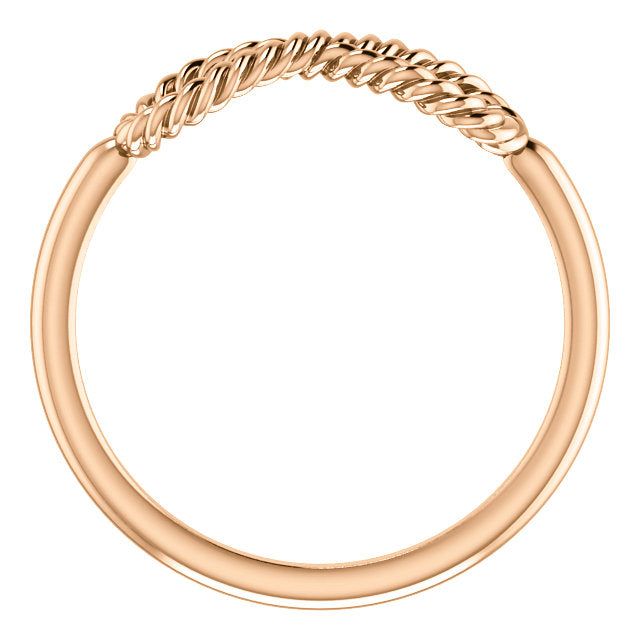 Rose Gold Twisted Infinity Ring