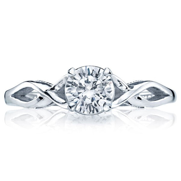 Tacori Sculpted Crescent Twist Solitaire Engagement Ring - 51rd5.5w
