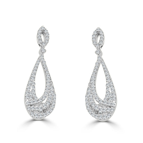 Fana Diamond Teardrop Shaped Earrings