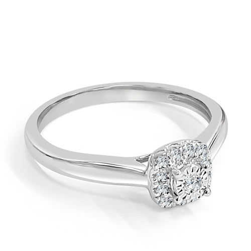 Cushion Shaped Halo Engagement Ring With Polished Shank