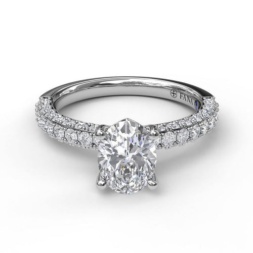 Fana Pave Diamond Solitaire Mounting