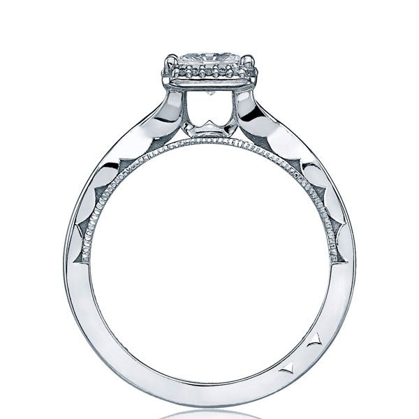 Tacori Sculpted Crescent Princess Cut Twist Halo Engagement Ring