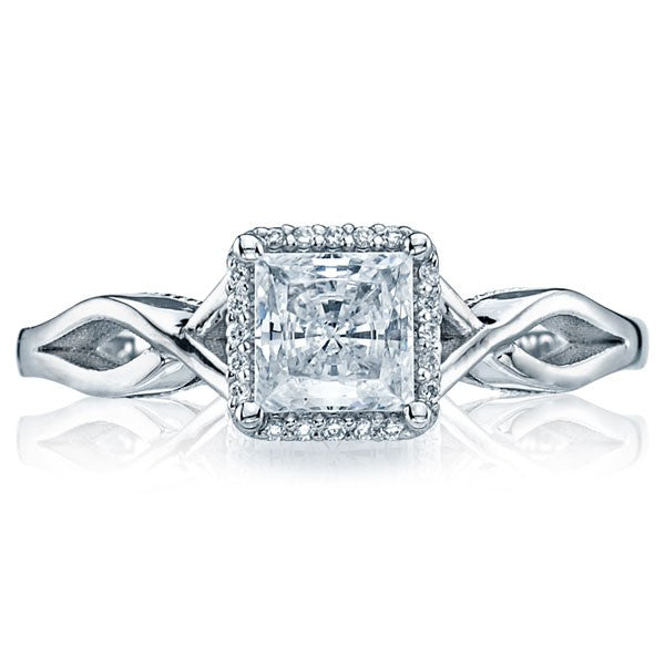 tacori sculpted crescent princess cut twist halo
