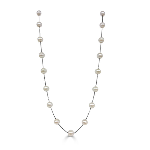 Freshwater Pearl 17in Station Necklace