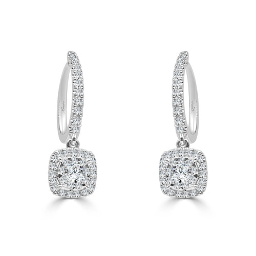 Fancy 0.65 Carat Diamond Bouquet Dangle Earrings