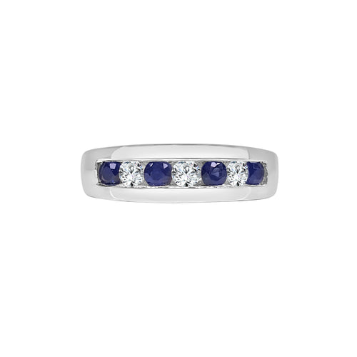 Sapphire And Diamond Channel Band