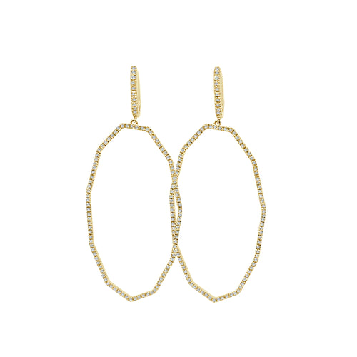 Shy Creations Fancy Geometric Diamond Drop Earrings
