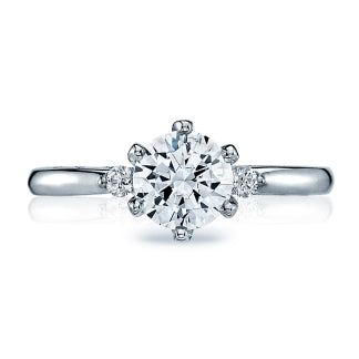 Tacori Sculpted Crescent Solitaire 3-stone Engagement Ring