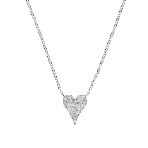 Shy Creations Pave Heart Diamond Necklace