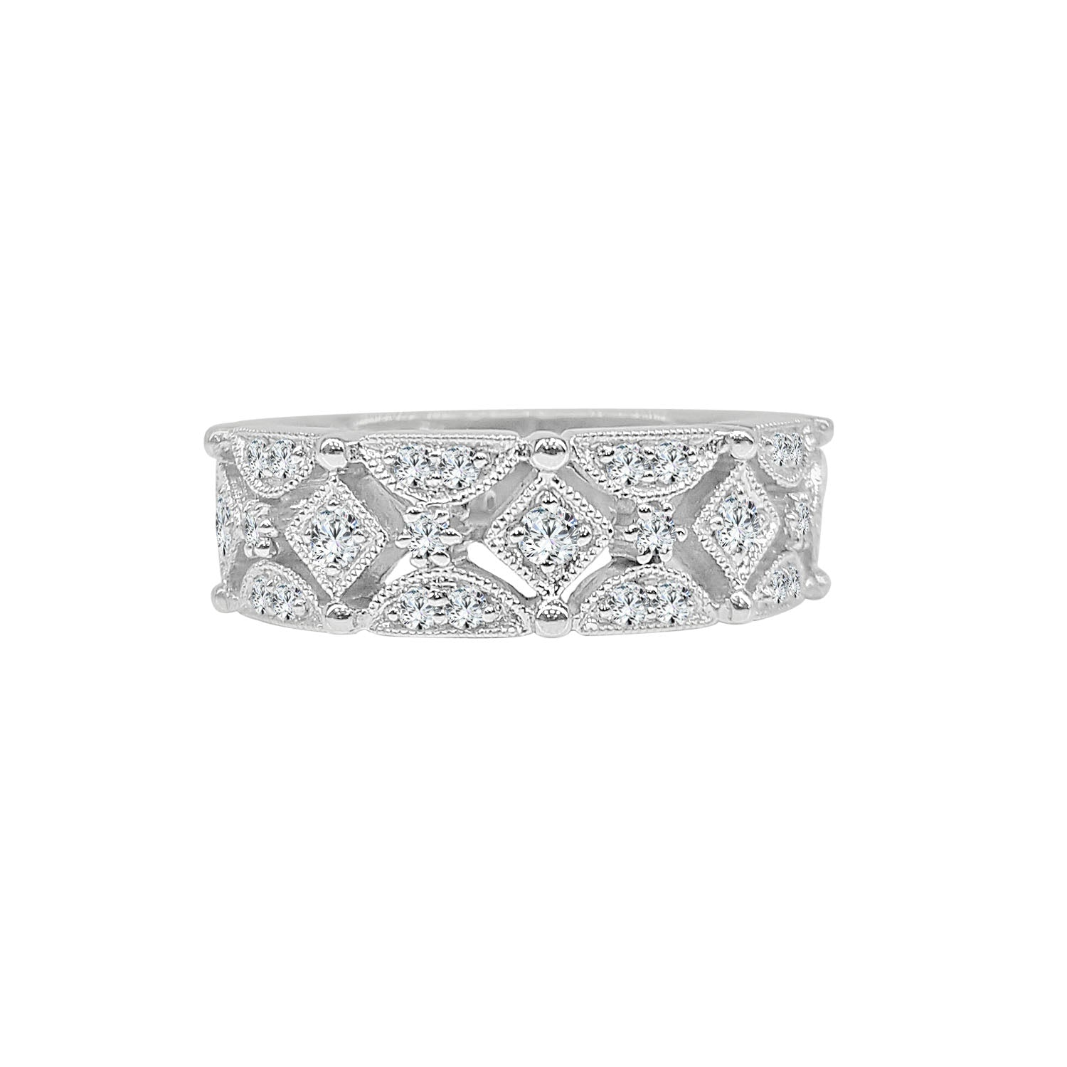 Fancy Antique Style Diamond Ring