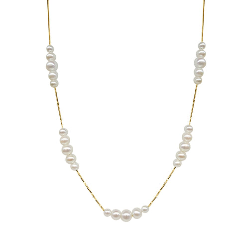 Freshwater Five Pearl Station Necklace