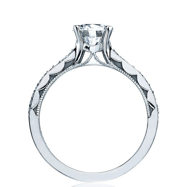 Tacori Sculpted Crescent Pave Solitaire Engagement Ring - 58-2rd6.5w