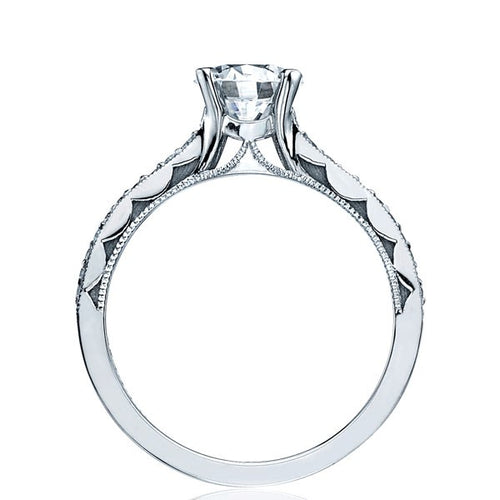 Tacori Sculpted Crescent Pave Solitaire Engagement Ring