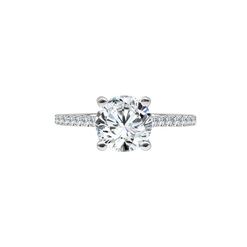 Fana Solitaire Diamond Cathedral Mounting