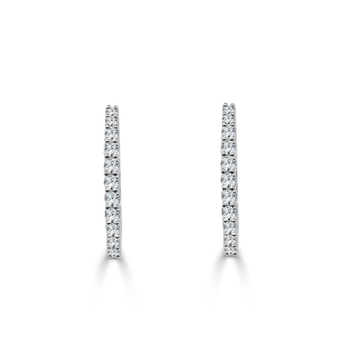 Half Carat Diamond Hoop Earrings