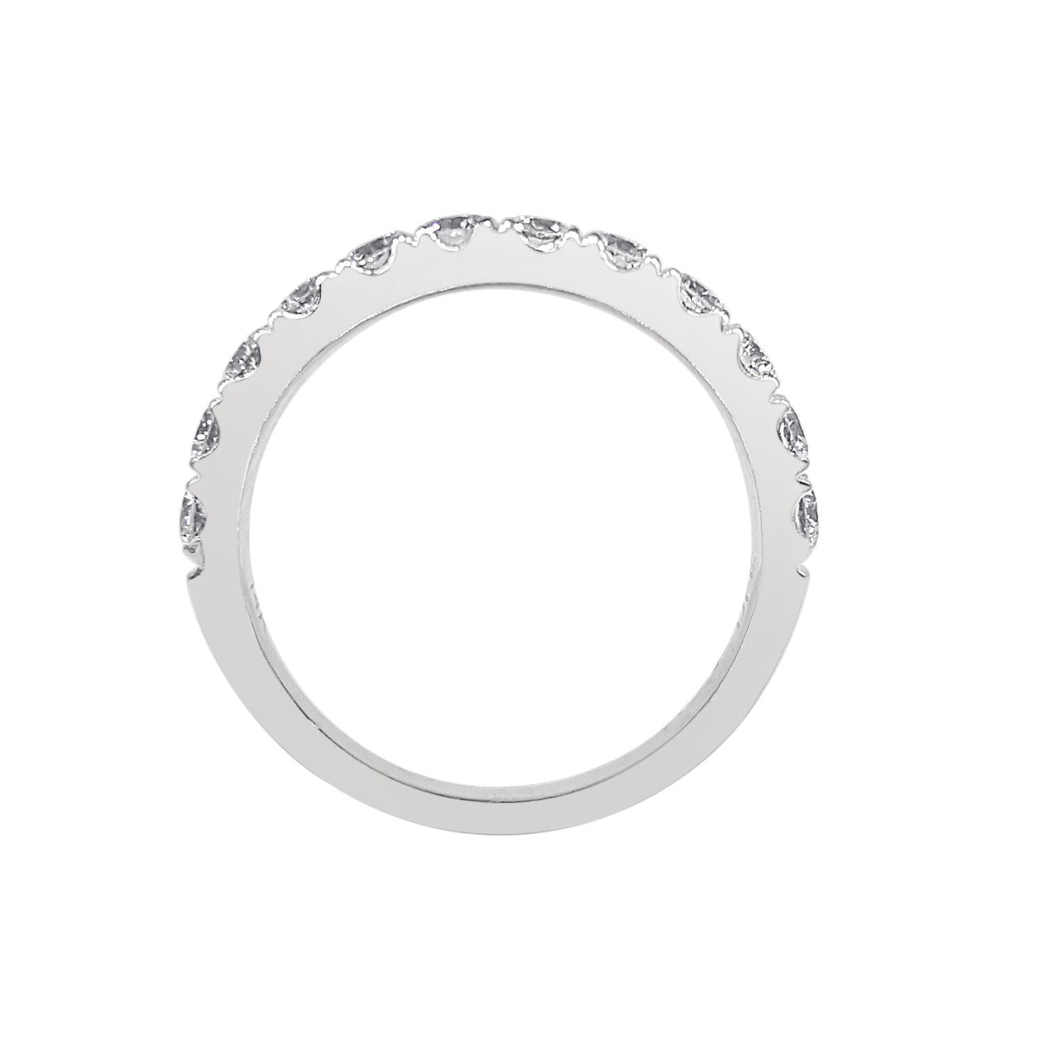 Prong Set 1 Carat Diamond Wedding Band