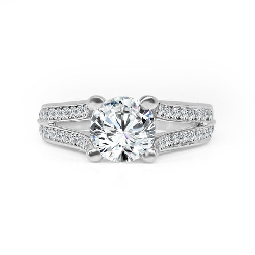 Solitaire With Split Shank Diamond Mount
