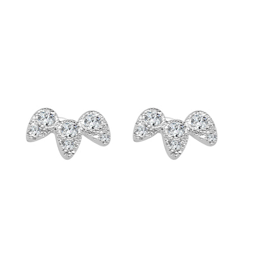 Shy Creations Fancy Diamond Pear Studs