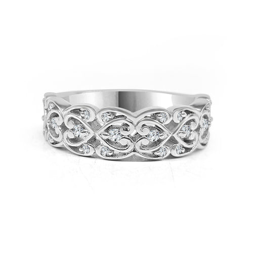 Heart Design Diamond Fancy Band