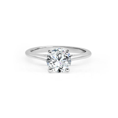 Fana Polished Cathedral Solitaire Engagement Ring