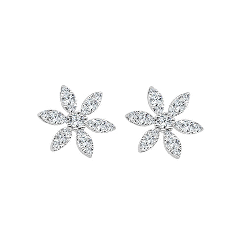 Diamond Daisy Stud Earring
