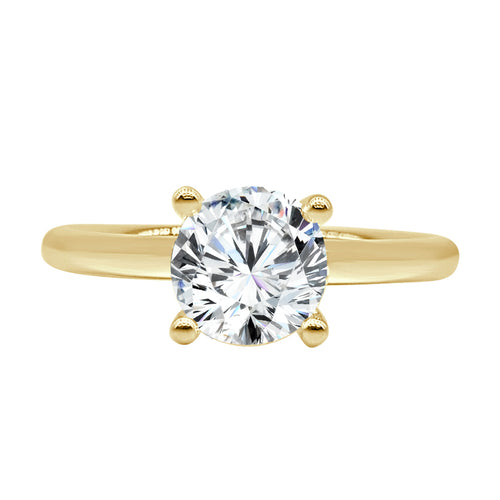 Fana Polished Solitaire Ring In Yellow Gold