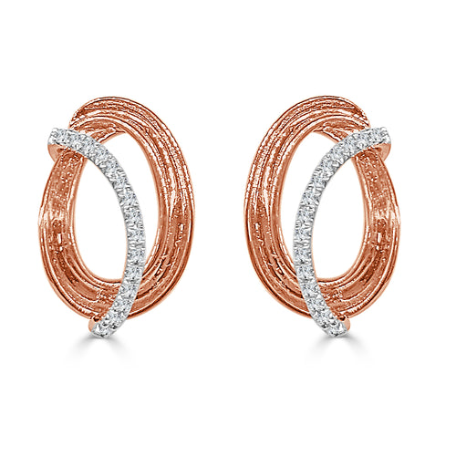 Oval Earrings With Diamonds