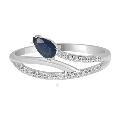 Fancy Intertwined Diamond And Sapphire Ring