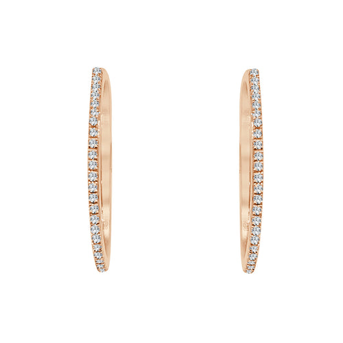 Diamond 0.28 Carat Rose Gold Hoop Earrings