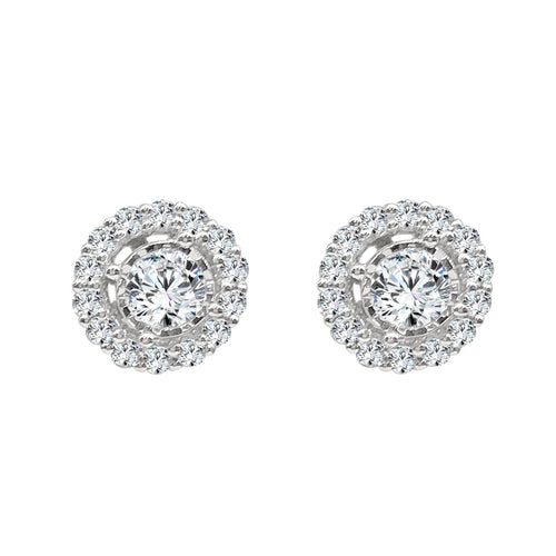 Round Prong Set Diamond Earring Jackets