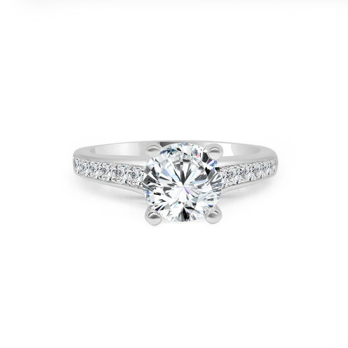 Fana Round Solitaire With Fancy Diamond Band