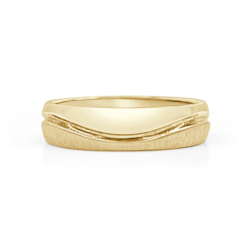 Yellow Gold Polished Wave Band